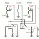 ギターのピックアップHSH配線(コイルタップ付き)の回路図: Dimarzio ピックアップの場合